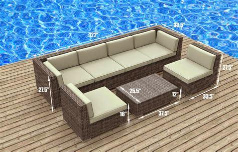 outdoor rattan sofa furnishing modern outdoor backyard wicker rattan patio furniture sofa sectional set
