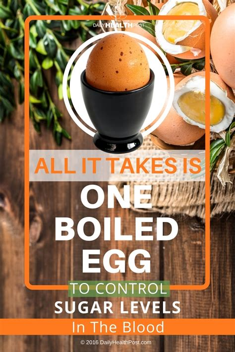 control blood sugar levels   boiled egg