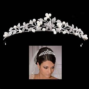 Princess Wedding Bridal Prom Party Pearl Crystal Flower