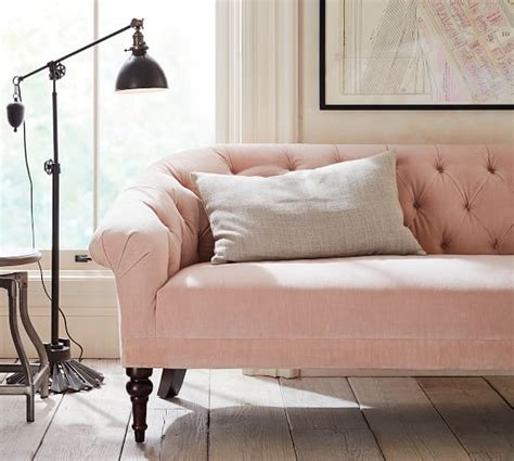 Pink Sofa Promo Code by Lhuillier For Pottery Barn 2018 Collection