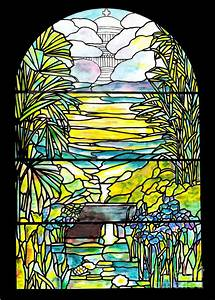 Stained Glass Tiffany Holy City Memorial Window Painting