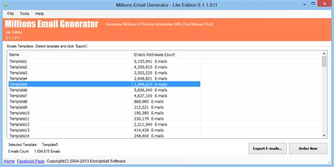 millions email generator lite edition
