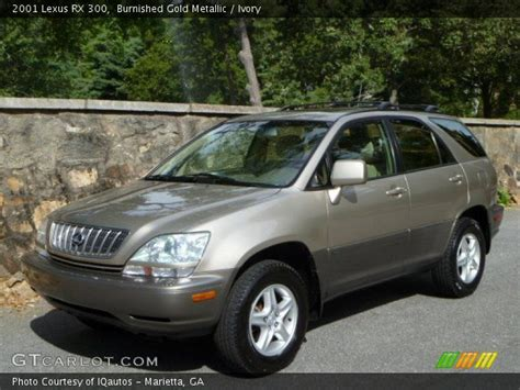 gold lexus rx burnished gold metallic 2001 lexus rx 300 ivory