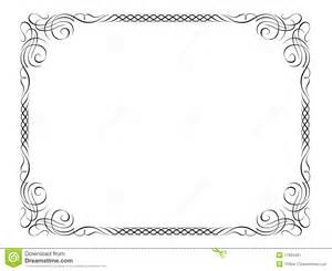 penmanship decorative frame stock vector image 17693491