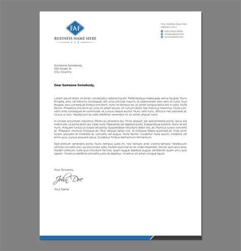 blank letterhead template  print stock vector