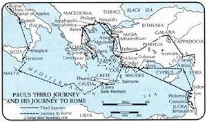 Paul's Missionary Journey Map