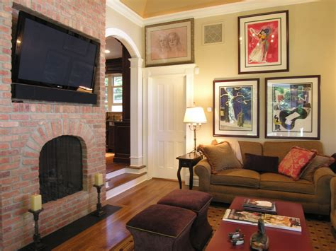 Decoration Fireplace Designs With Brick Living Rooms Red