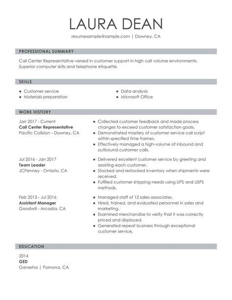 Phone Customer Service Resume by Customer Service Representative Exles Sles