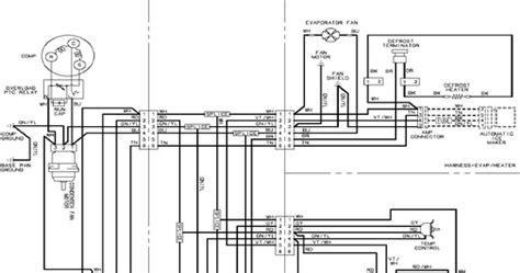 maytag refrigerator wiring diagram service manual