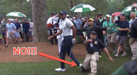 Tiger Woods was injured at the Masters when a security ...