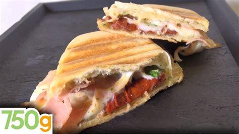 recette de panini jambon tomate mozzarella  youtube