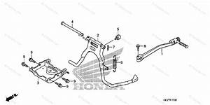 Honda Scooter 2007 Oem Parts Diagram For Stand    Kick