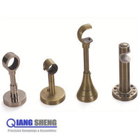 china oem adjustable tension metal curtain rod wall