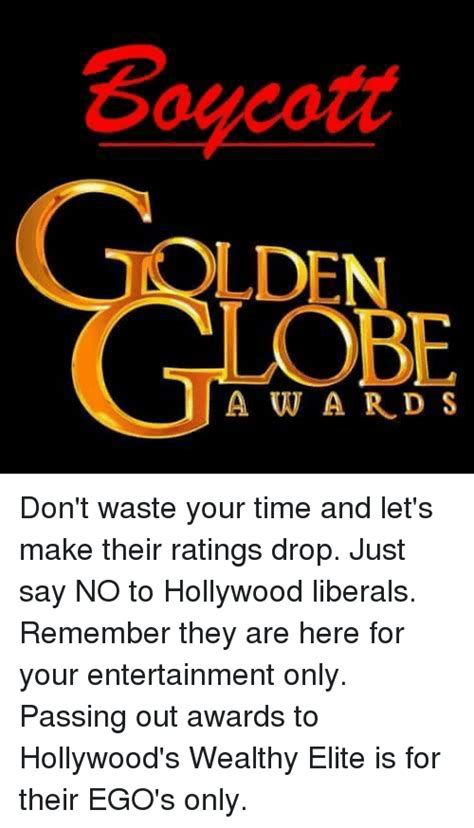 Boycott Lden Lobe 1award S Don't Waste Your Time And Let's