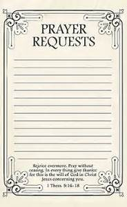 Free printable prayer request forms printable prayers prayer request and free printable for Prayer request card template word