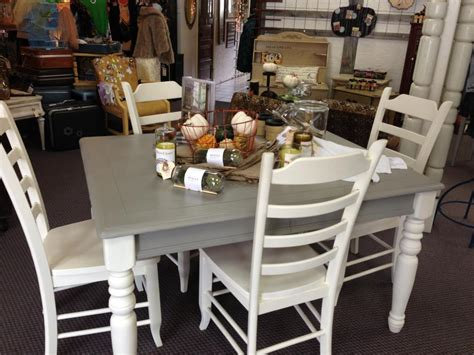 linen and white chalk paint 174 table and chairs