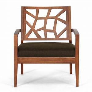 Baxton Studio Jennifer Brown Fabric Upholstered Lounge