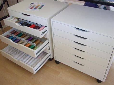 Diy Sewing Cabinet Plans by Ikea Cabinets Called Alex For Thread Storage Sew