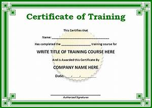 training certificate templates for word on the With free online certificate templates for word