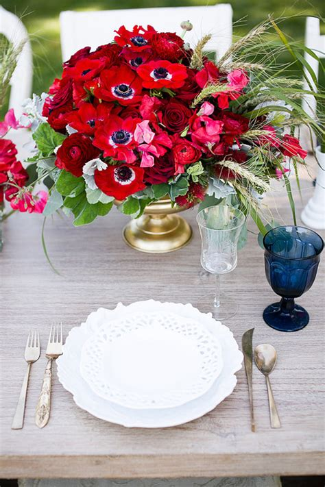 blog red white and blue wedding ideas