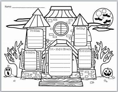 Organizer Graphic Story Elements Halloween Haunted Writing