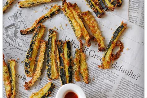 recette de frites de courgettes amande  parmesan au