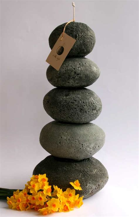 stone candle sculpture