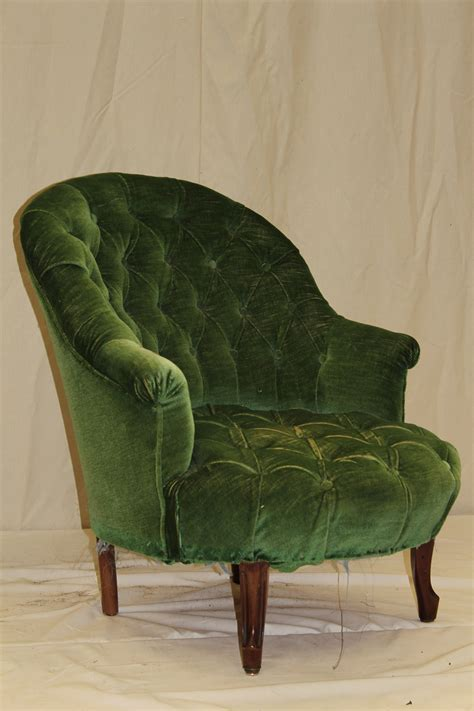 buttoned chair fabric upholstery and