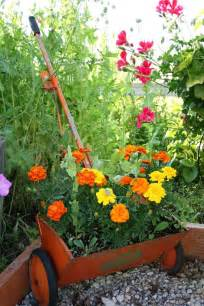 Container Garden with Marigolds