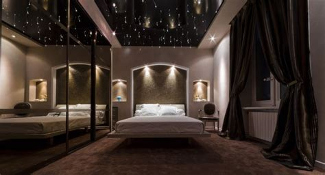 plafond étoilé chambre plafond tendu design façon ciel étoilé artisan sur