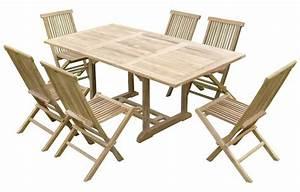 Table Teck Jardin : table de jardin en bois avec rallonge en teck massif 6 places ~ Teatrodelosmanantiales.com Idées de Décoration