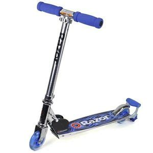 Razor Scooter With Light Up Wheels by Razor Spark Dlx Kick Scooter Blue Light Up Your Ride Ebay