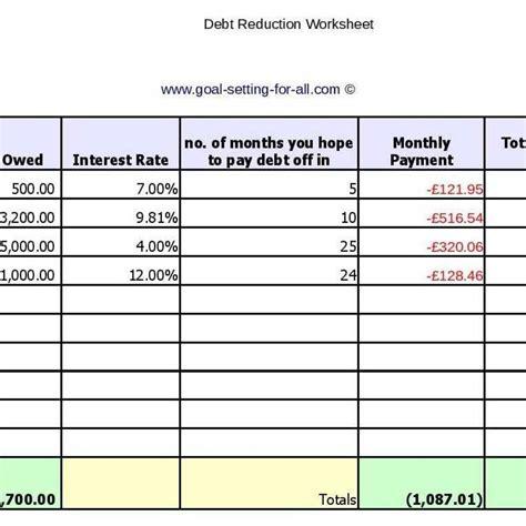 debt reduction spreadsheet  mac standardlasopa