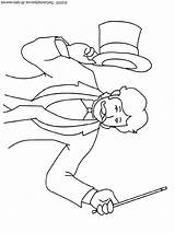 Magician Coloring Pages Colouring sketch template