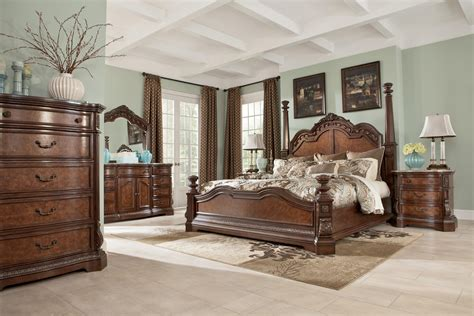 chambre complete adulte discount ledelle poster bedroom set with headboard posts in brown