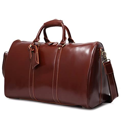 Cowhide Overnight Bag - mens genuine leather overnight travel duffle weekend bag