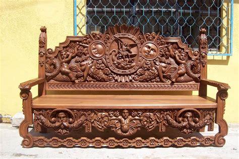 banca de madera tallada  mano precio de fabricante