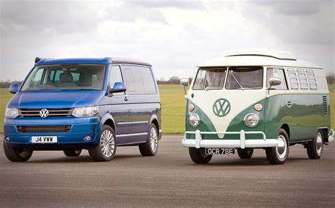 volkswagen california old vs new volkswagen t2 and california cer vans go
