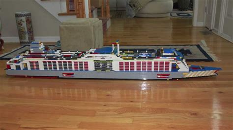Lego Ship Sinking In Whirlpool by Lego Cruise Ship