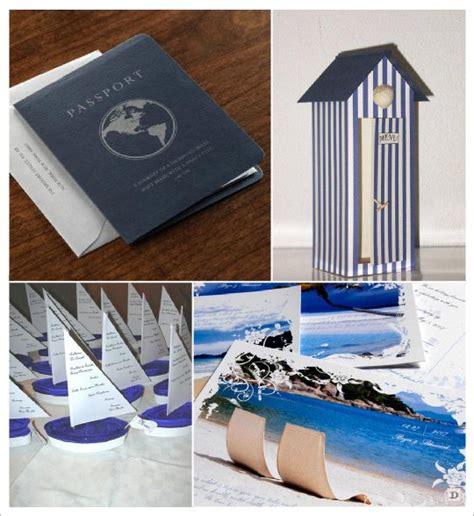 decoration mariage mer menu passeport cabine plage carte postale voilier projets 224 essayer
