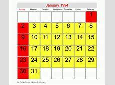 January 1994 Roman Catholic Saints Calendar