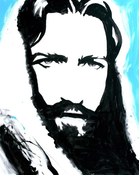 Abstract Jesus Black And White by Jesus Painting Of God Yelp