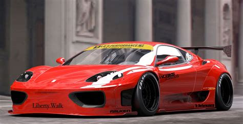 liberty walk ferrari  modena wheels