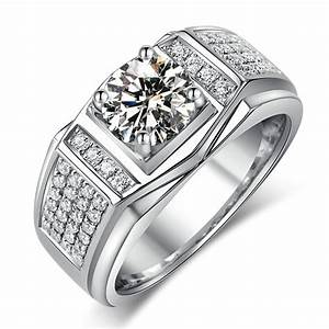 fashion jewelry new design jewelry men ring aaaaa zircon With mens wedding ring designers
