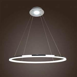 Modern 1 Ring Acrylic Pendant Light Round Ceiling Lamp LED ...