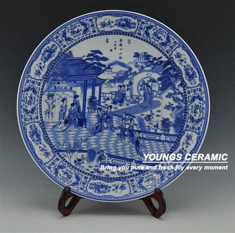 3758 ceramic wall plates antique blue white porcelain wall decorative