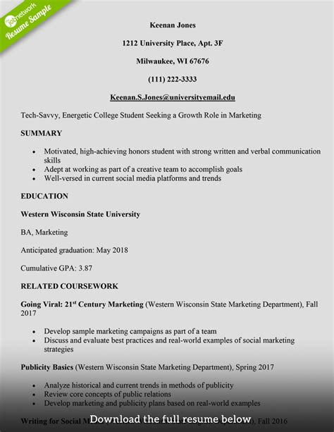 College Resume by How To Write A College Student Resume With Exles