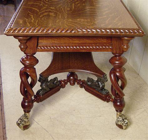 merklen brothers oak library table