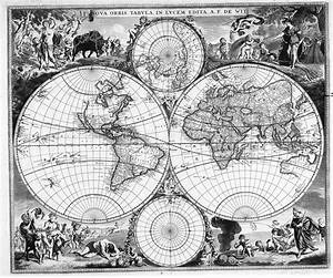 1688 Map of the World - Latin