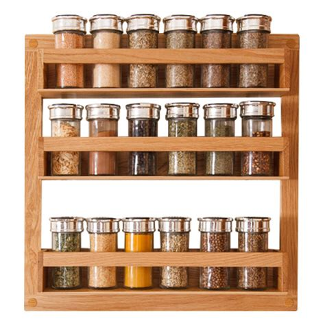 Wooden Spice Racks Uk by Solid Oak Spice Rack Solid Wood Kitchen Cabinets